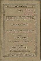 Image of dental register 09/1892