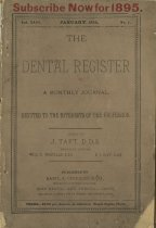 Image of dental register 01/1895