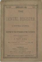 Image of The Dental Register - 0966.0141