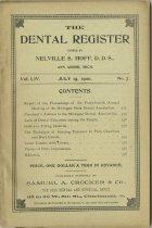 Image of The Dental Register - 0966.0206