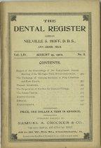 Image of The Dental Register - 0966.0207