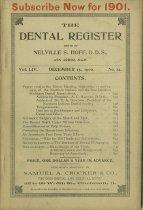 Image of dental register 12/1900