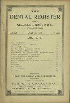 Image of dental register 05/1901
