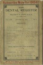 Image of The Dental Register - 0966.0248