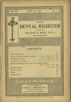 Image of The Dental Register - 0966.0275