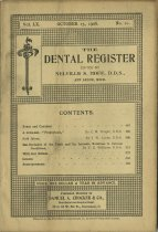 Image of dental register 10/1906