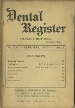 Image of The Dental Register - 0966.0281