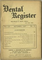 Image of dental register 10/1907