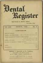 Image of dental register 03/1908