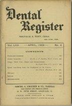 Image of The Dental Register - 0966.0295