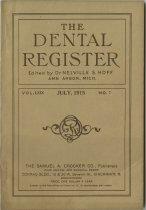 Image of dental register 07/1915