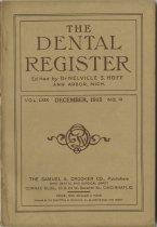 Image of The Dental Register - 0966.0316