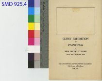 Image of Irving T. Bush Exhibition of Paintings Pamphlet 1938