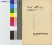 Image of Memory and Prophecy Irving T. Bush Paintings Pamphlet 1943