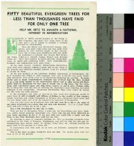 Image of Trade Handbill Advertising Reforestation 1932