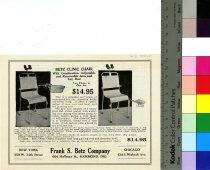 Image of Betz Clinic Chair Trade Handbill 1932