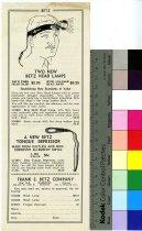 Image of Betz Headlamp and Tongue Depressor Trade Handbill 1932