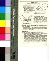 Image of Instruction sheet