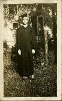 Image of Robert G. Turner in a cap and gown, 1927