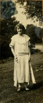 Image of Laura Eleanor Turner (neé Ross) in a white dress, 1929