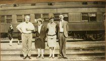 Image of Robert and Laura (two on left) with another couple, circa 1928-1930
