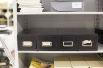 Image of Student register cards filing cabinet