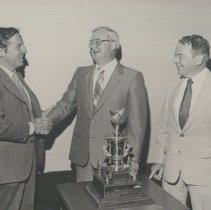 Image of Award of Excellence Trophy 1979/1980. Wiscassett Mills Co.