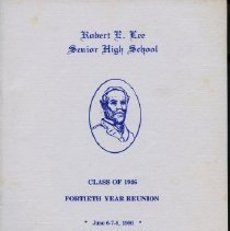 Image of 2011.24.1 - Class Reunion Brochure