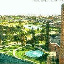 Image of Aeroplane View of Parkways, Jacksonville, Fla.