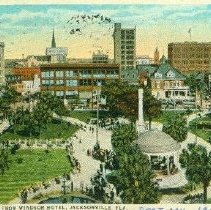 Image of Hemming Park From Windsor Hotel, Jacksonville, Fla.