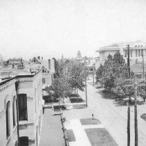 Image of 2003.001.025 - Newnan Street looking north, 1910s.