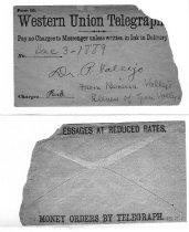 Image of telegram & envelope