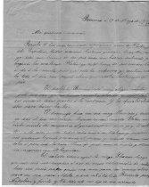 Image of letter to Senora Vallejo