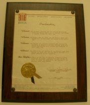 Image of Proclamation - 1986.005.0004