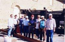 Image of Museum volunteers working on Galilee Bow enclosure - 1995.049.0001