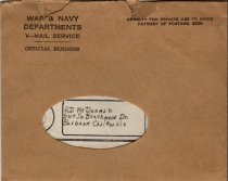Image of V-Mail Envelope - 2002.002.0014b