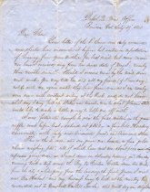 Image of Letter 1853 - 2006.101.0001