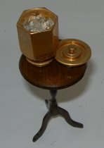 Image of Miniature Table w/Ice Bucket + Ice - 2013.008.0190