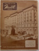Image of Chronicle Supplement - Fairmont Hotel front page