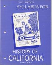 Image of Syllabus for a California History Class - Diablo JC - 2013.022.0010