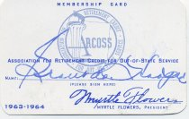 Image of Membership Card - Grant Hooper 1963-64 - 2014.034.0085