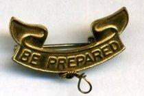 Image of be prepared pin - 2009.023.0006