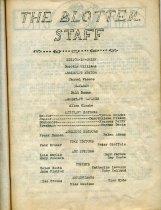 Image of BHS Blotter 12 1934