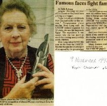Image of Kora Lang news article re famine, 1992.