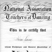Image of Kora Lang Nat Assn Teachers Dancing Cert Latin American