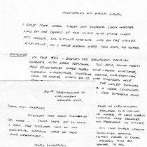 Image of Letter to Mrs Sherley enclosing 'Memories of Kora Lang'