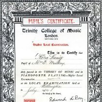 Image of Theory of Music & Piano Playing, Higher Level, 1934.