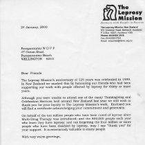 Image of 2006.1.15  WWFD Leprosy letter of thanks Jan 2000