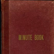Image of Minute book July 1942 to March 1950.