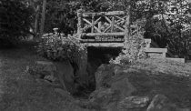 Image of Wooden Bridge near Orange Balustrade Before 1920 - 1985.1.13N
